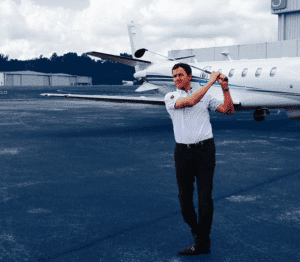 charter-jet-jimmy-walker-and-plane