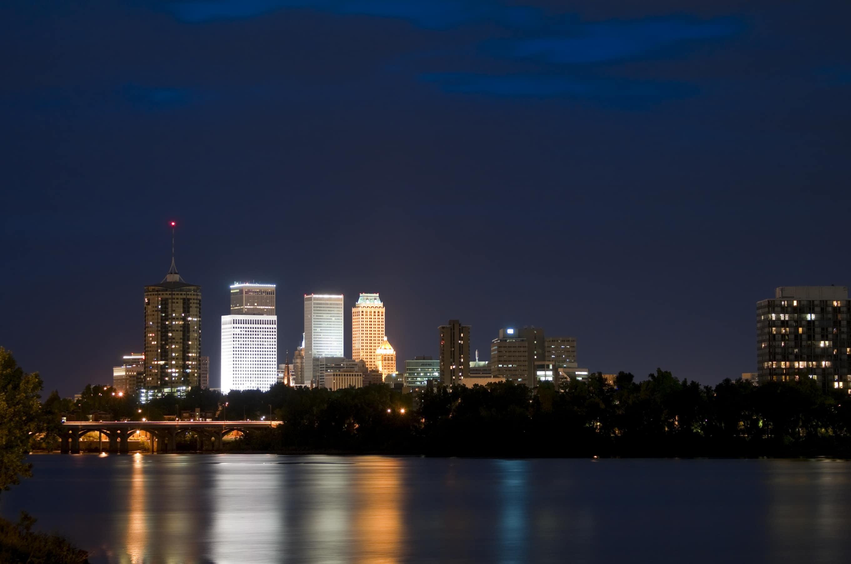 Tulsa Skyline Night