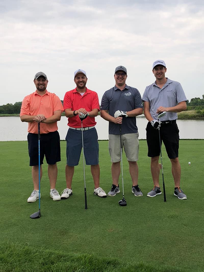 Grier Brown (Georgia Jet), Patrick Schmoker & Nick Johnson (Jet Linx), Todd DeBacker (Georgia Jet)