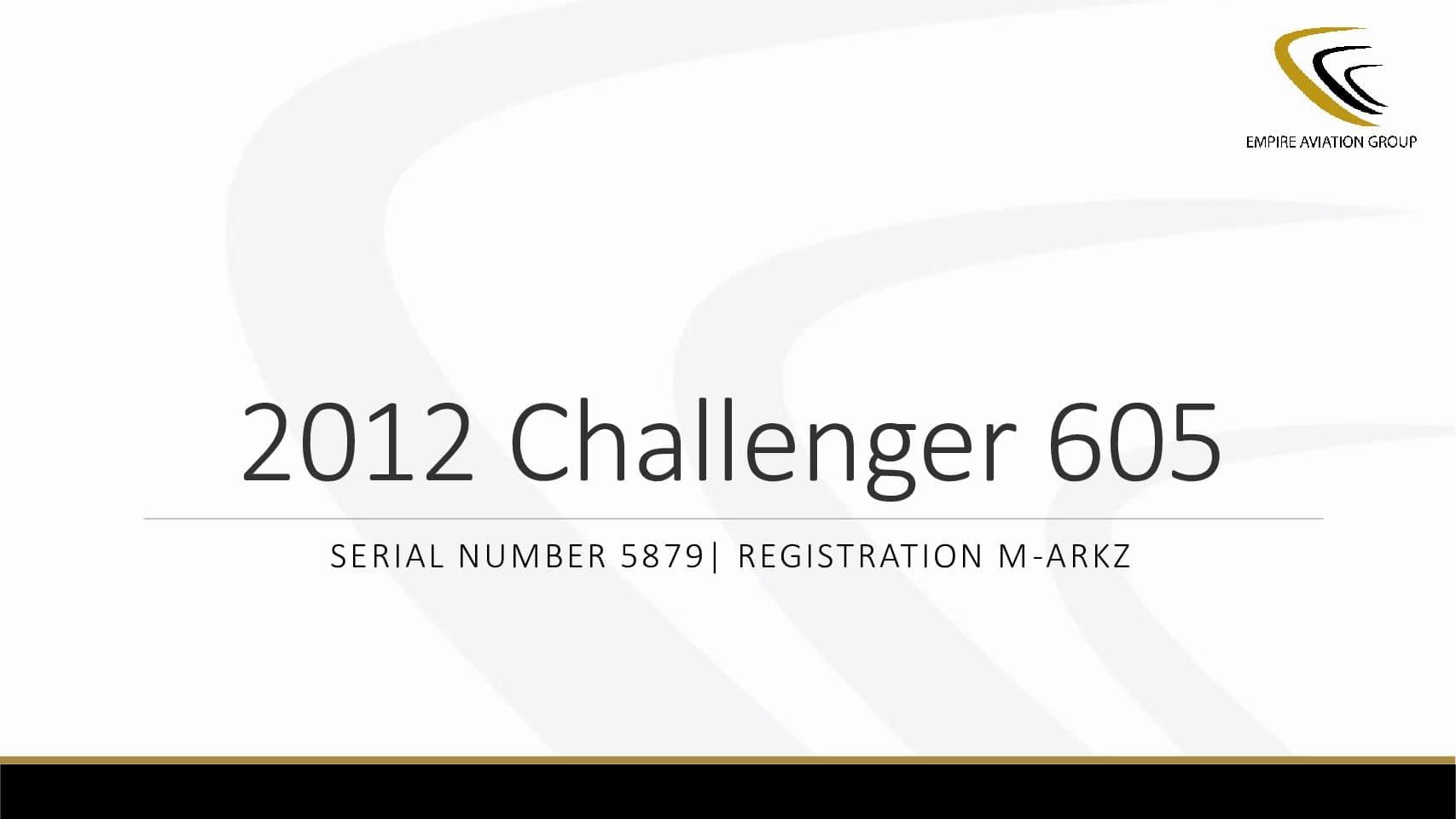 2012 Bombardier Challenger 605