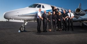 Members of the Jet Linx Tulsa private aviation family.