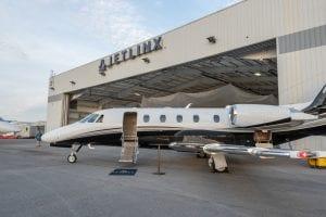 The 20,000-square-foot Jet Linx Nashville private jet hangar at Nashville International Airport.
