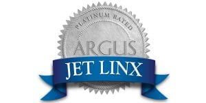 The ARGUS Platinum Safety Seal, the highest safety rating in private aviation.