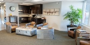 Private jet terminal awaits guests at Jet Linx Omaha.