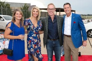 Joe Buck and Michelle Beisner Buck attend Kidsmart fundraiser with Rich Ropp and wife Melissa Ropp