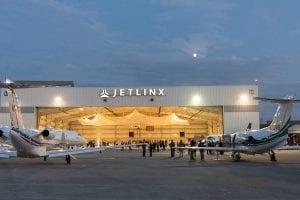 jet linx nashville grand opening hangar at night exterior
