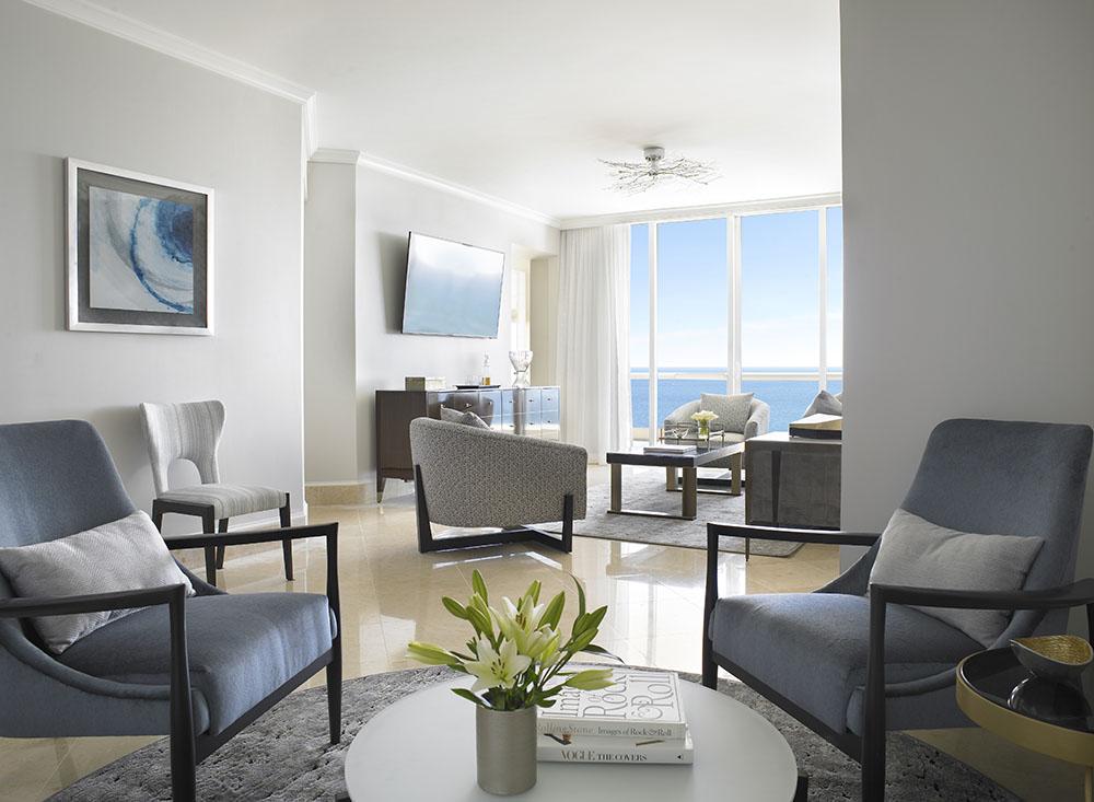 GrandDeluxeThreeBedroomOceanfrontSuiteLivingRoom - Acqualina Resort